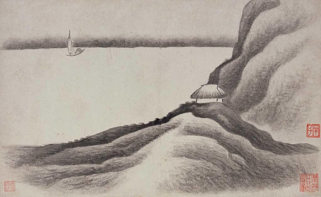 《山水册》(页一)